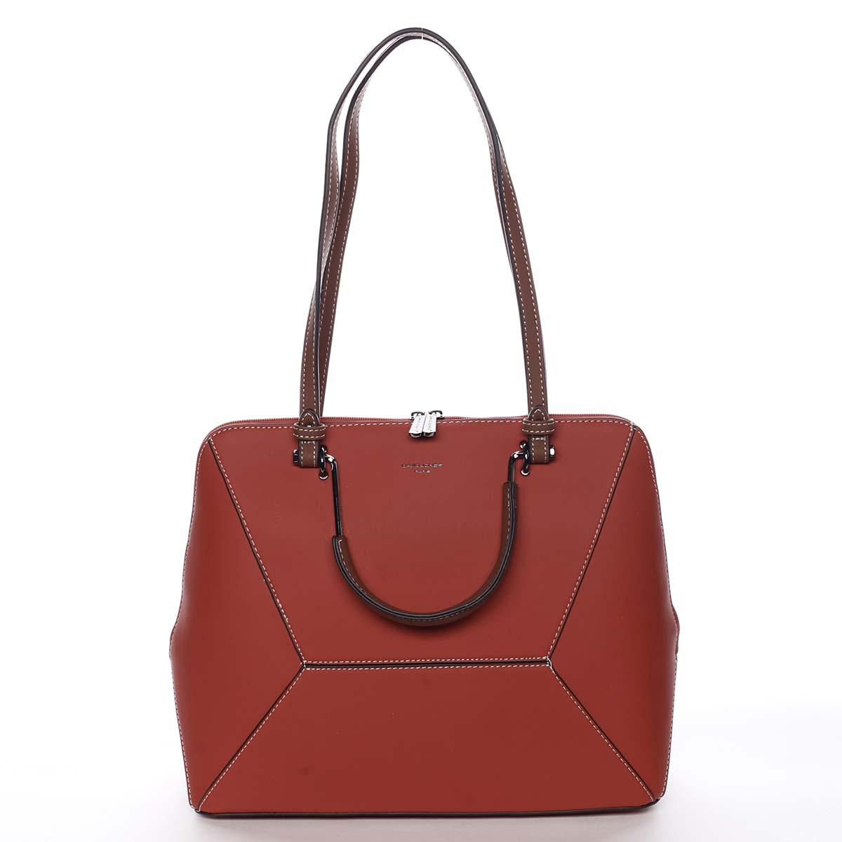 Dámska kabelka červená - David Jones Leocadia