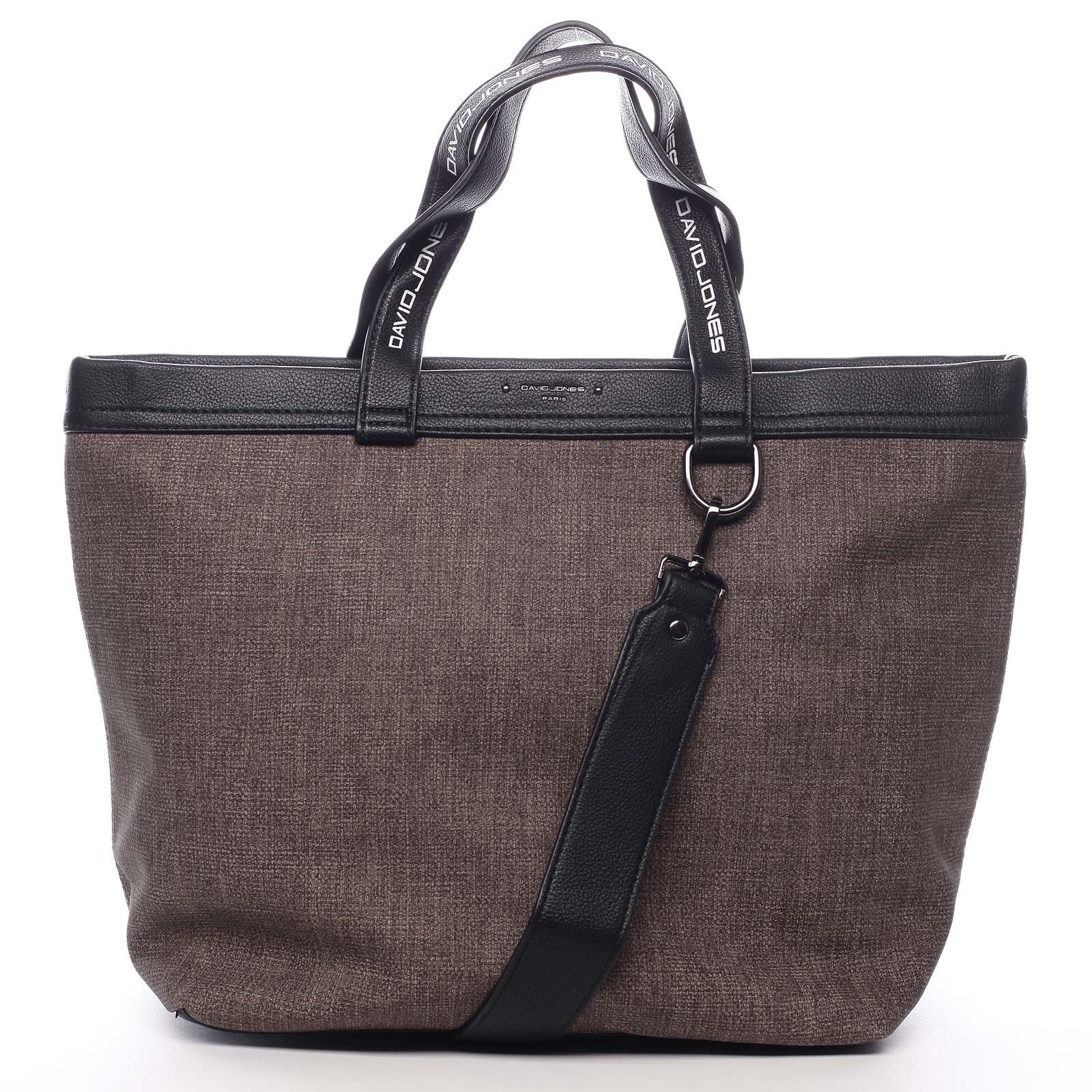 Veľká dámska kabelka hnedá - David Jones Graciete
