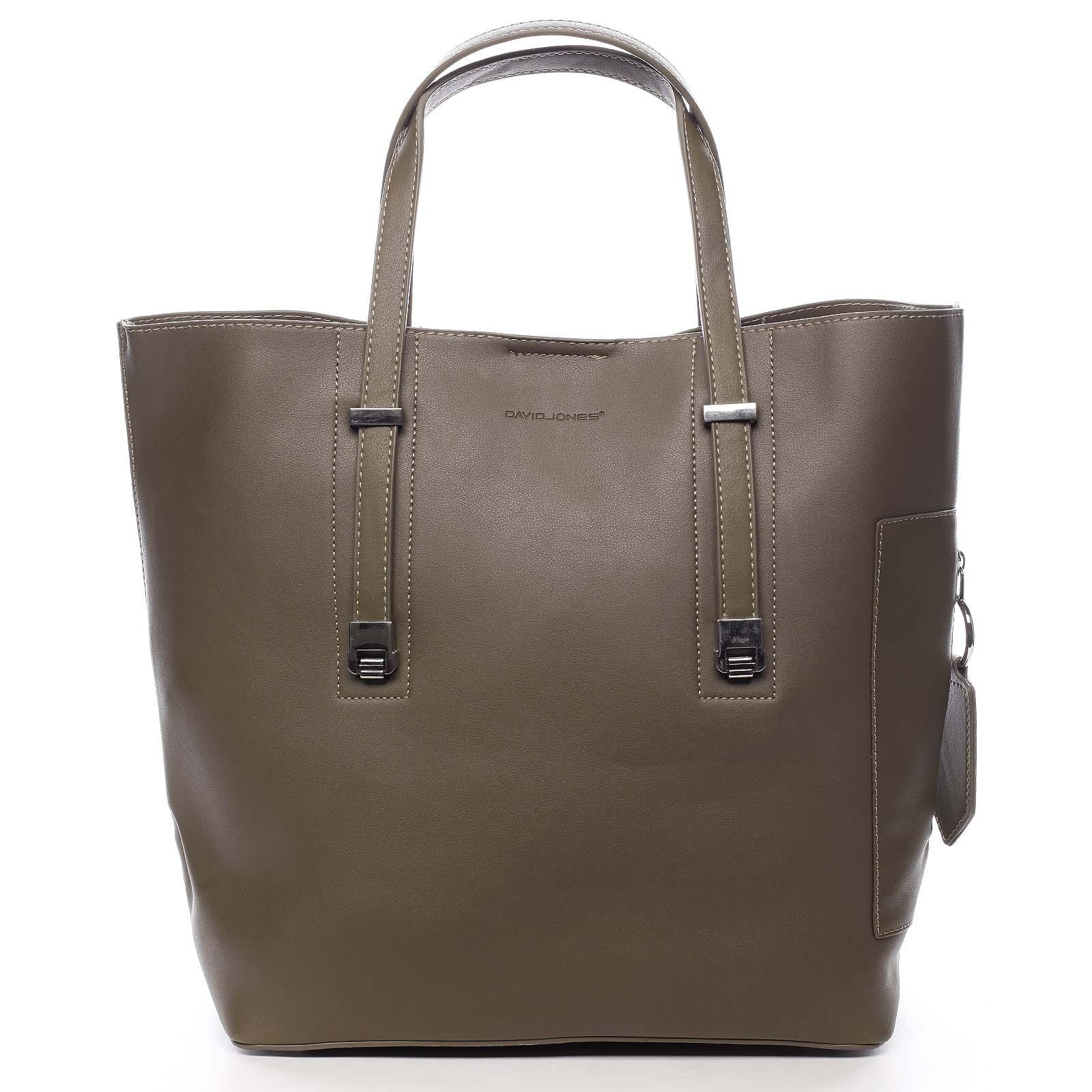 Veľká dámska kabelka do ruky khaki - David Jones Bruises