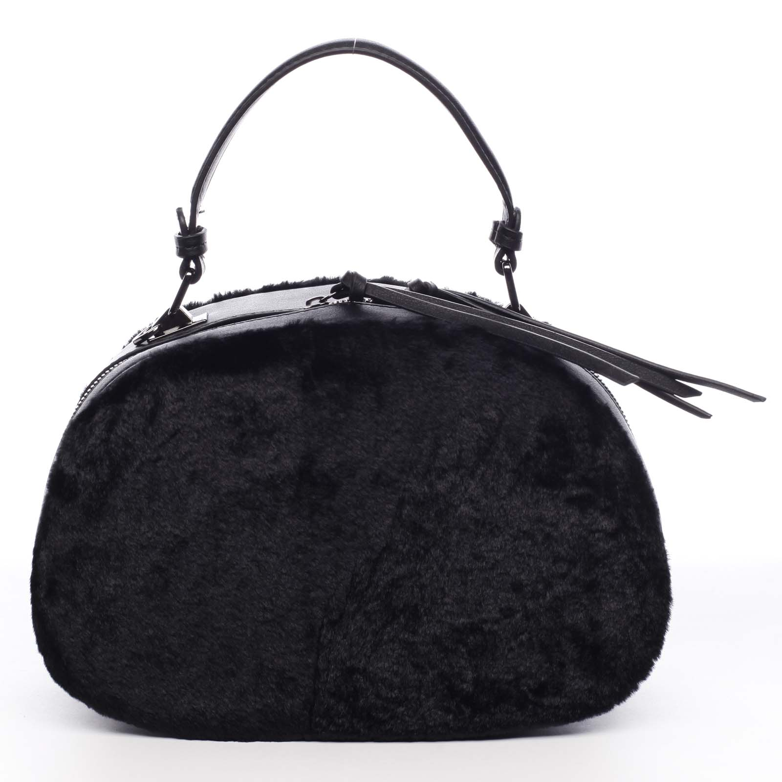 Dámska kožušinová kabelka čierna - MARIA C Hasiel