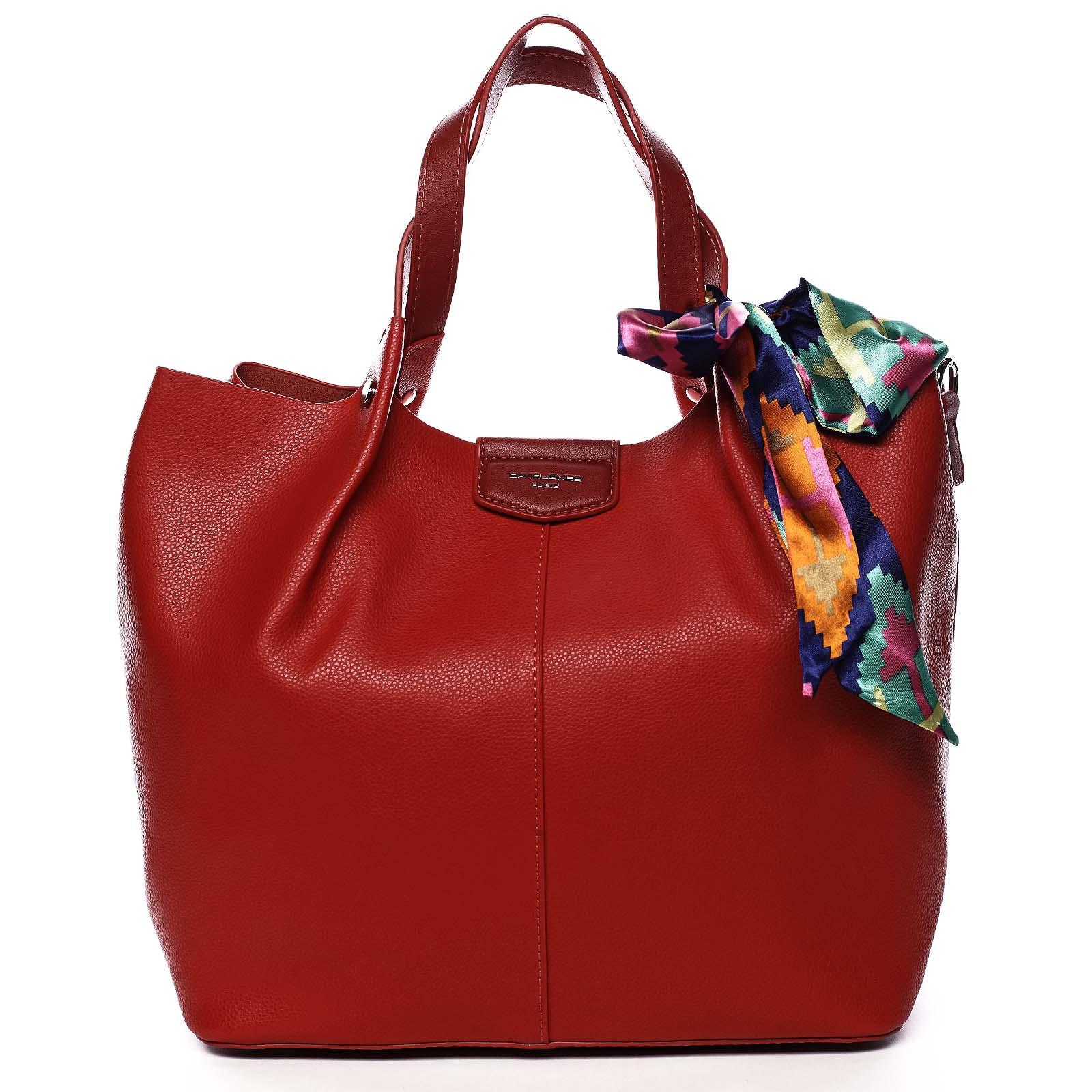 Dámska kabelka červená - David Jones MyWay