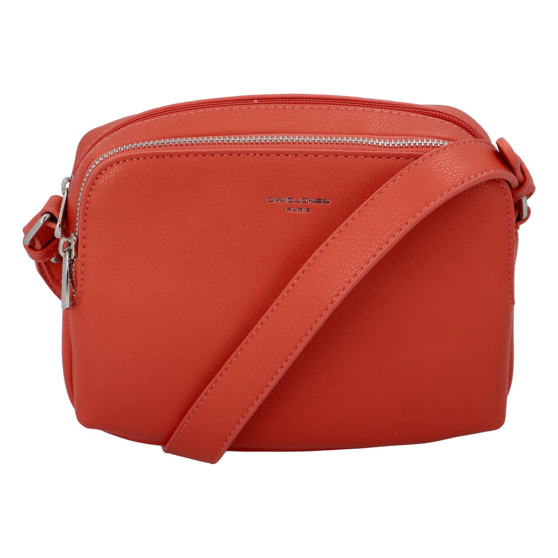 Dámska crossbody kabelka pastelovo červená - David Jones Beatrio