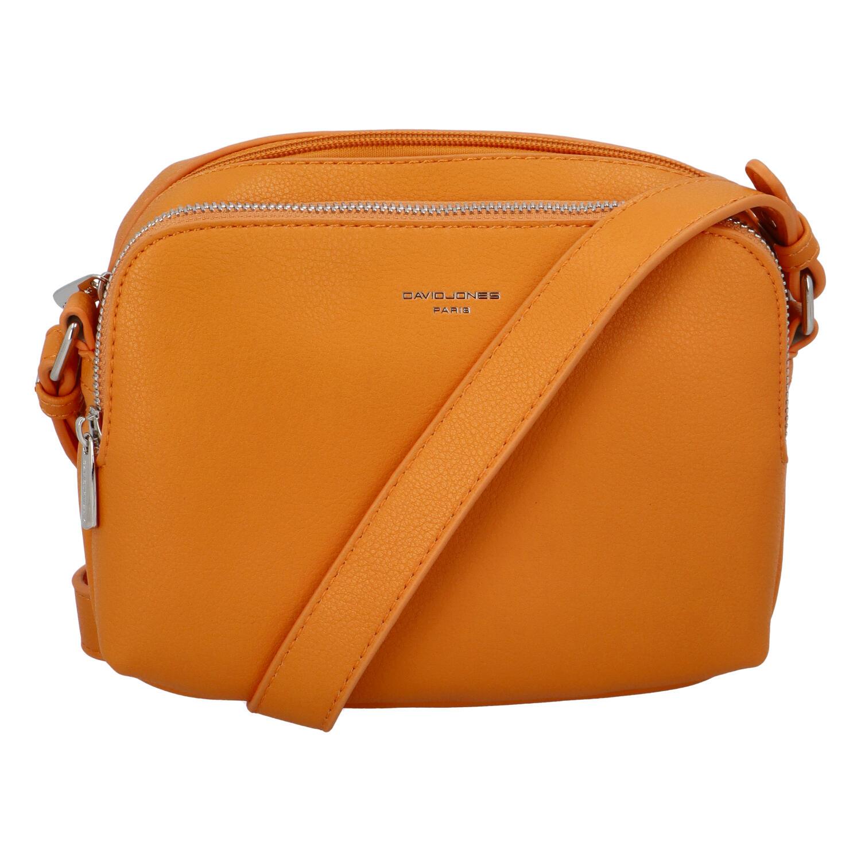 Dámska crossbody kabelka oranžová - David Jones Beatrio