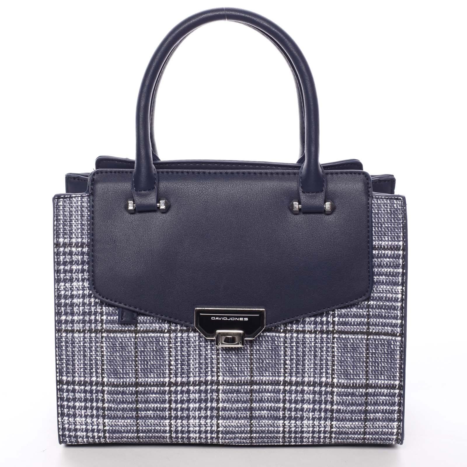 Luxusná dámska tmavomodrá kabelka do ruky - David Jones Agathi