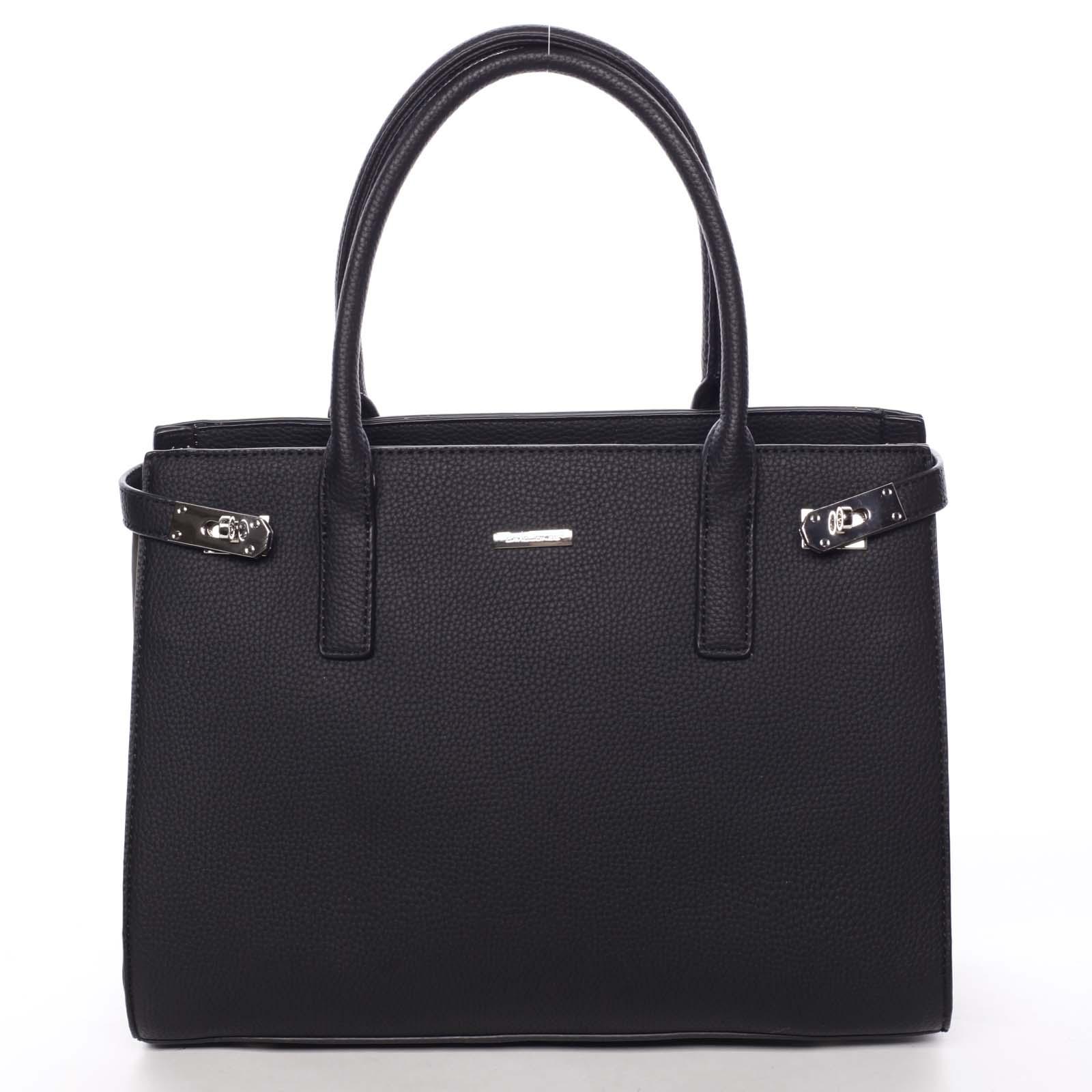 398366170c Atraktívna dámska kabelka do ruky čierna - David Jones Eugenie ...