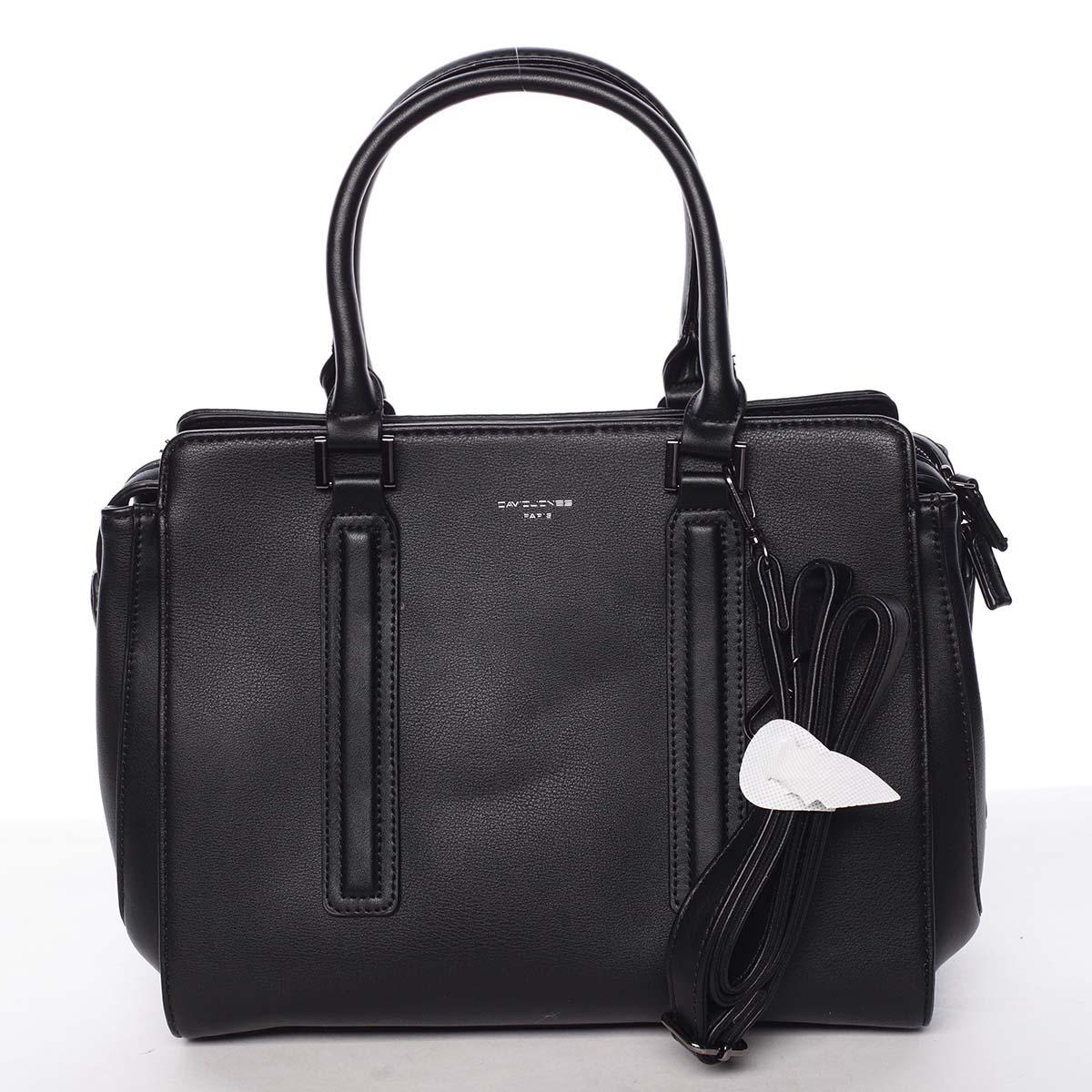6c932ced5 Elegantná štýlová dámska čierna kabelka - David Jones Amedee - Kabea.cz