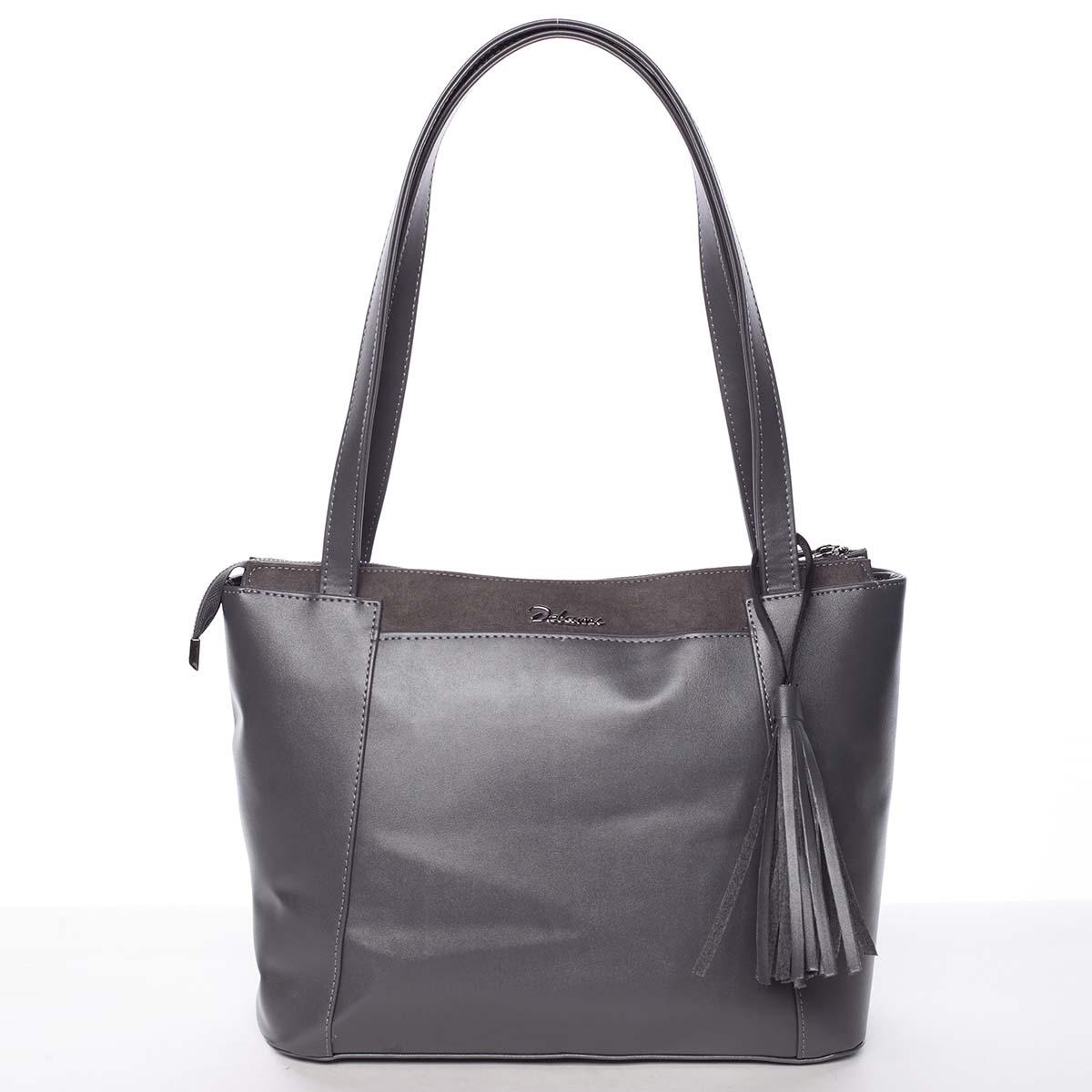 Moderná pevná kabelka sivá - Delami Hope