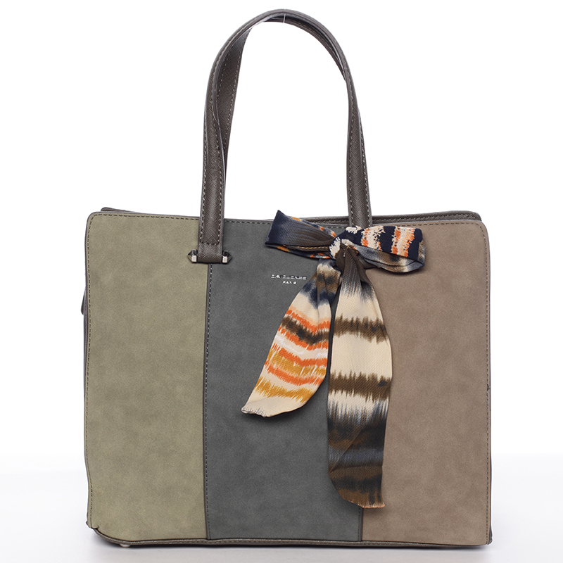Elegantná khaki kabelka do ruky - David Jones Daphne