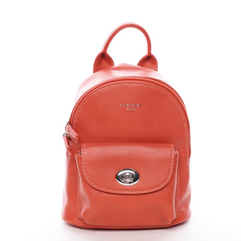 Malý originálny batoh oranžový - David Jones Lennan
