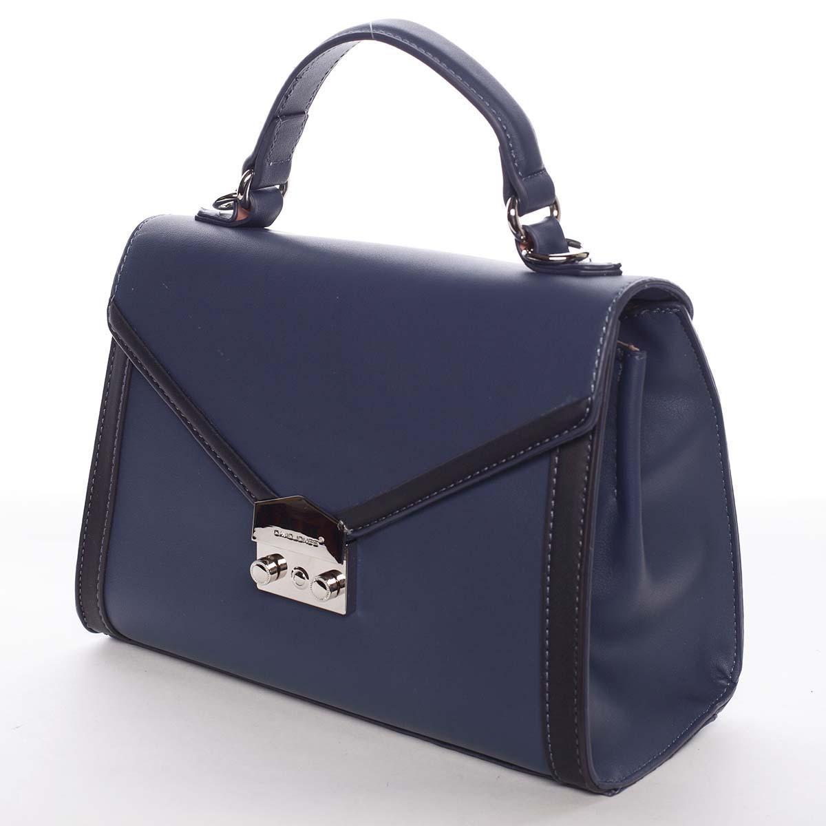 Exkluzívna menšia dámska kabelka do ruky tmavomodrá - David Jones Mayumi
