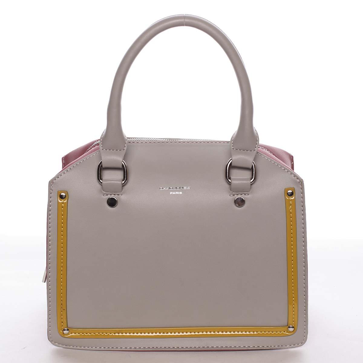 Malá originálna dámska kabelka do ruky sivá - David Jones Aglaia