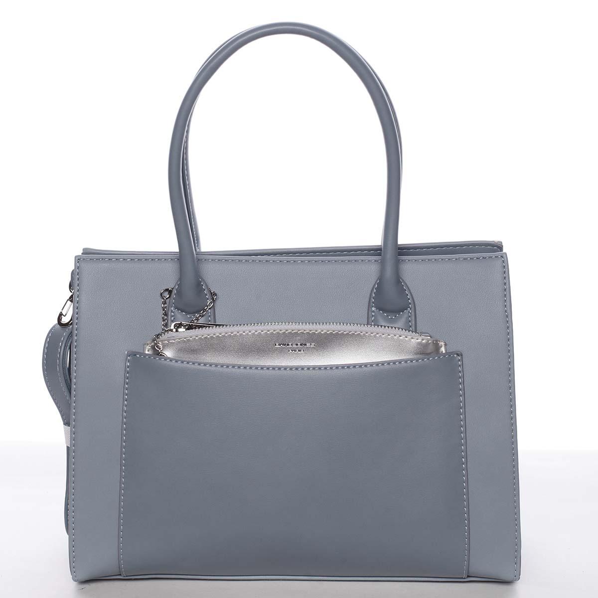Exkluzívna dámska pastelovo modrá kabelka - David Jones Hillary