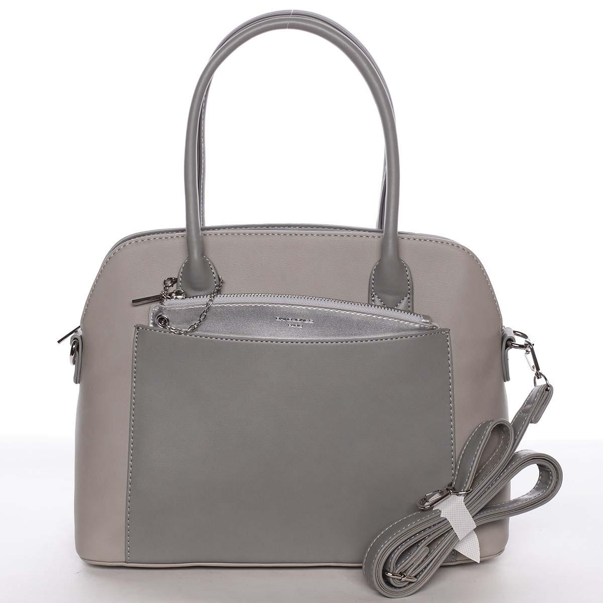 Exkluzívna dámska sivá zaoblená kabelka - David Jones Hiliery