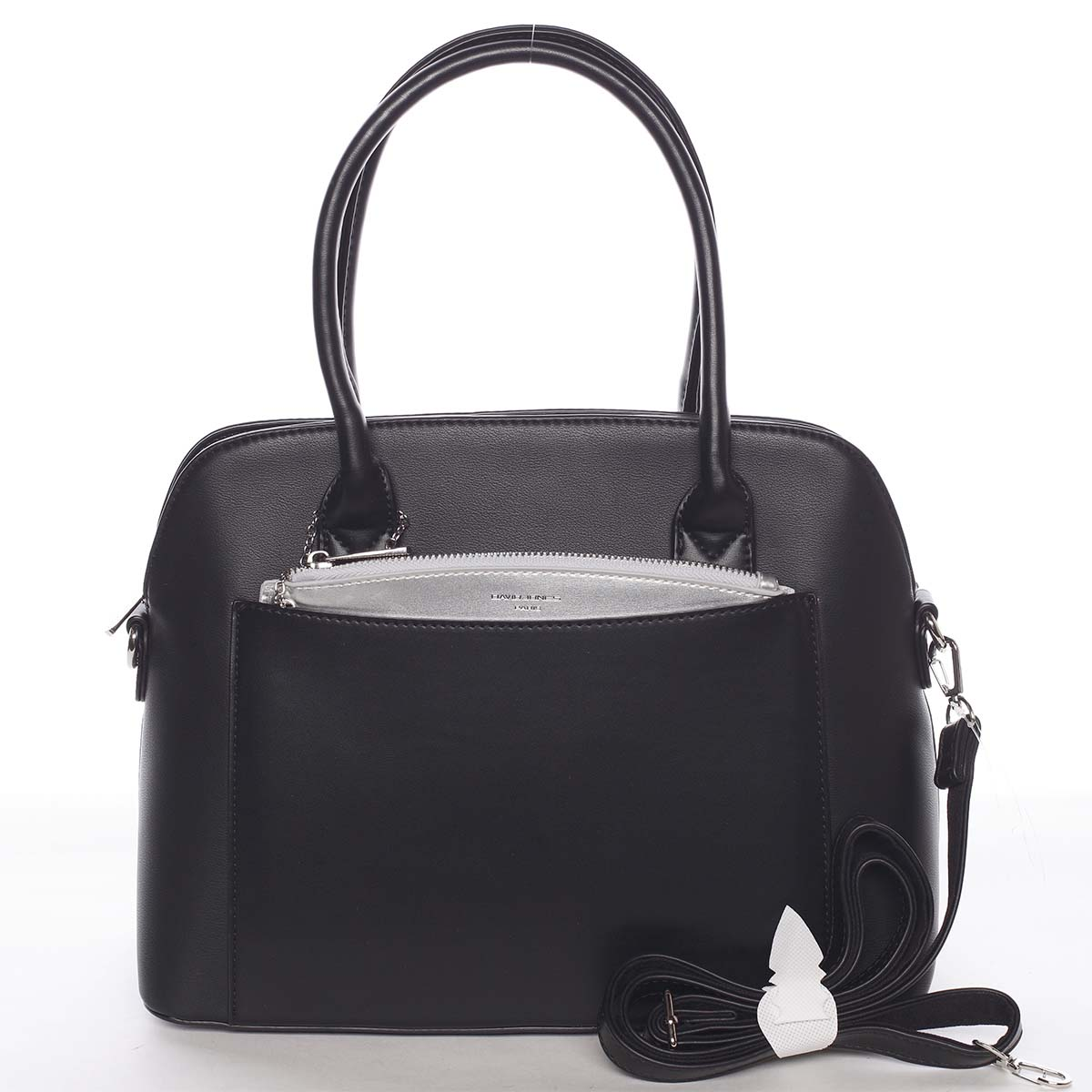 Exkluzívna dámska čierna zaoblená kabelka - David Jones Hiliery