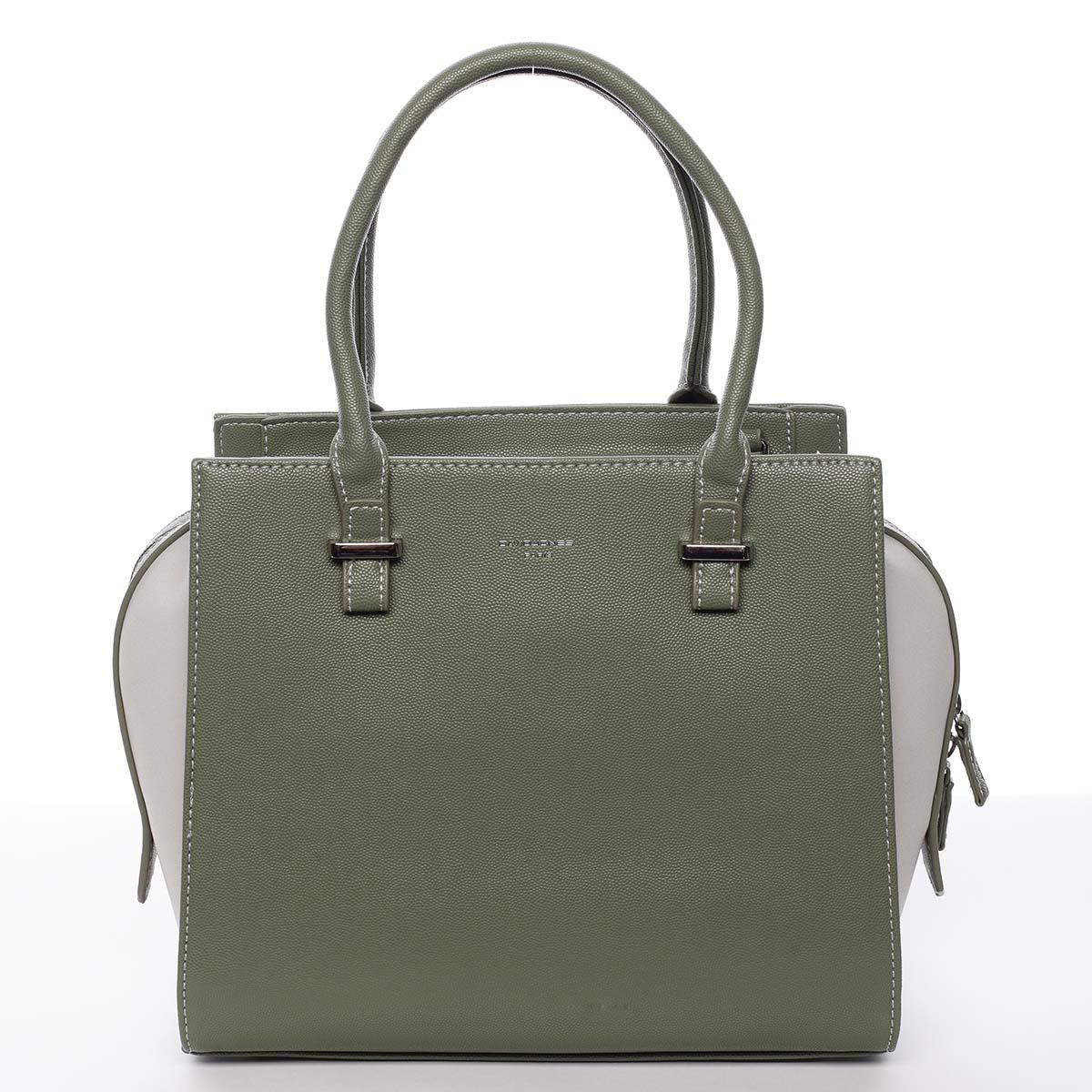 Luxusná módna olivovo zelená kabelka cez rameno - David Jones Ariana