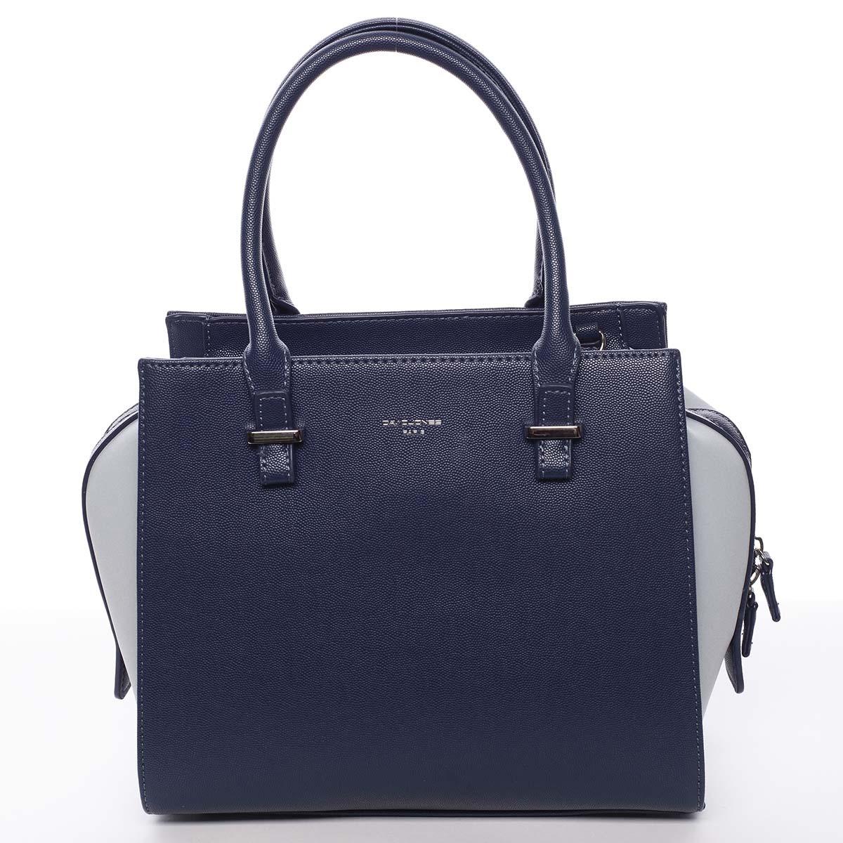 Luxusná módna modrá kabelka cez plece - David Jones Ariana