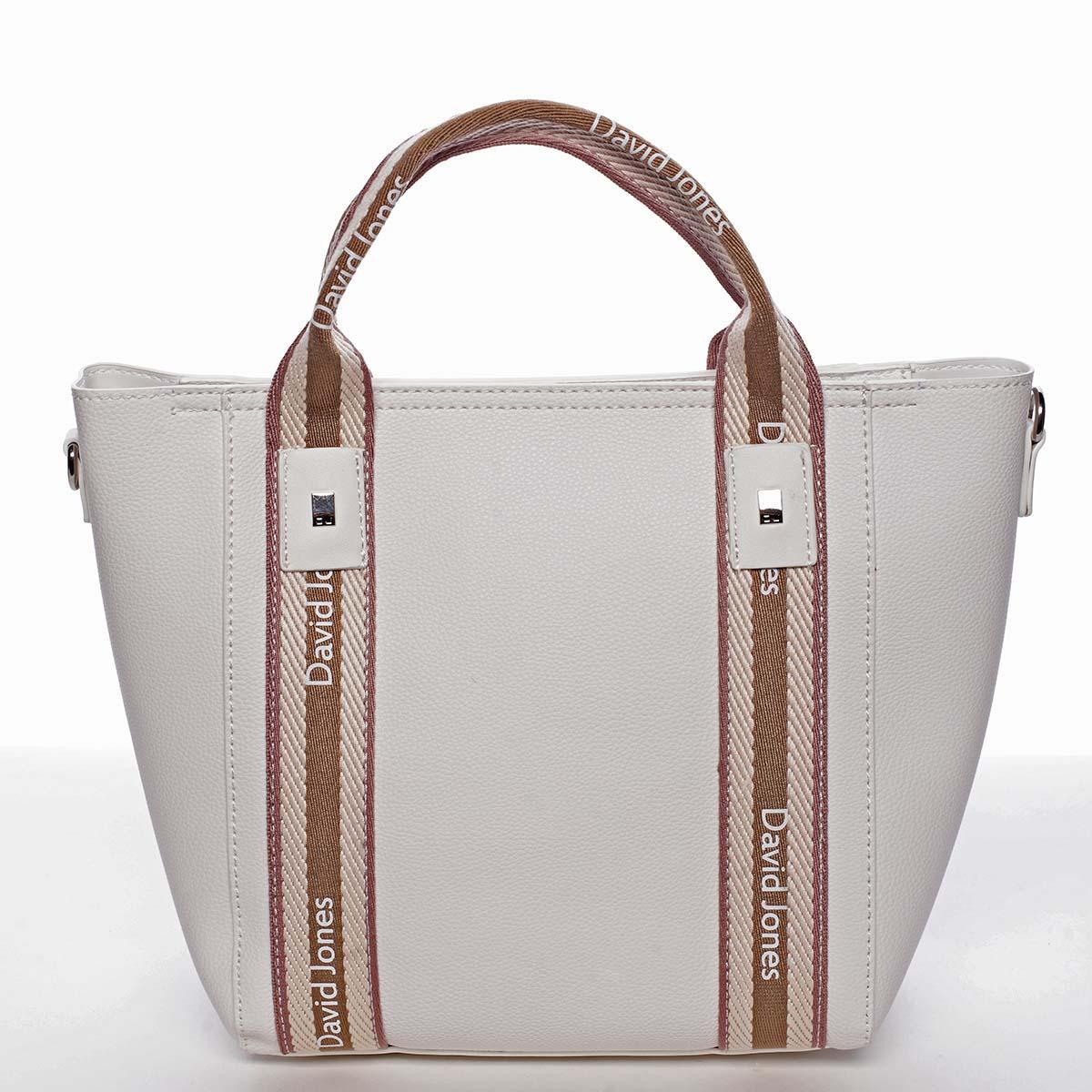 Moderná dámska biela kabelka do ruky - David Jones Agna