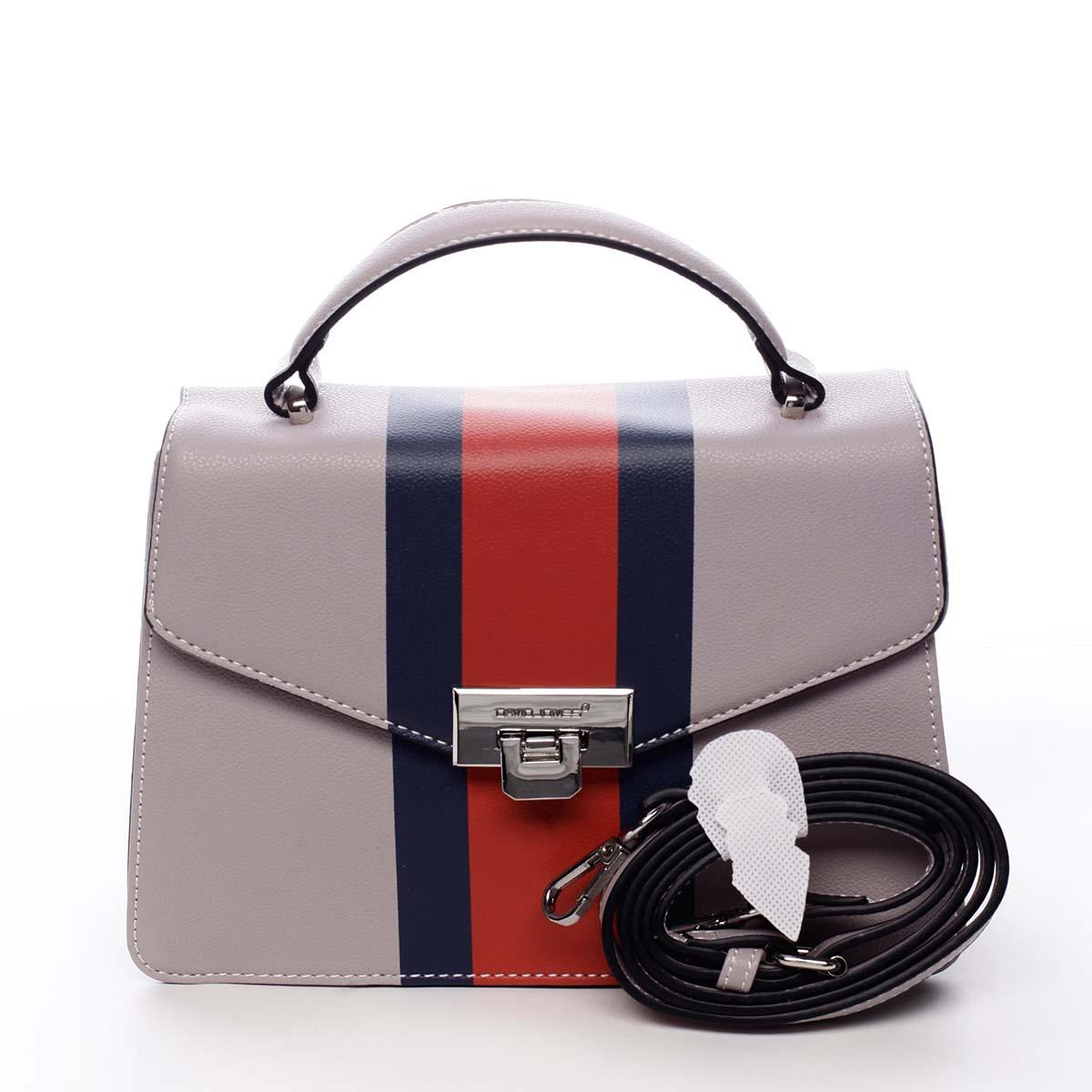 Exkluzívna menšia dámska kabelka do ruky svetlofialová - David Jones Shabana