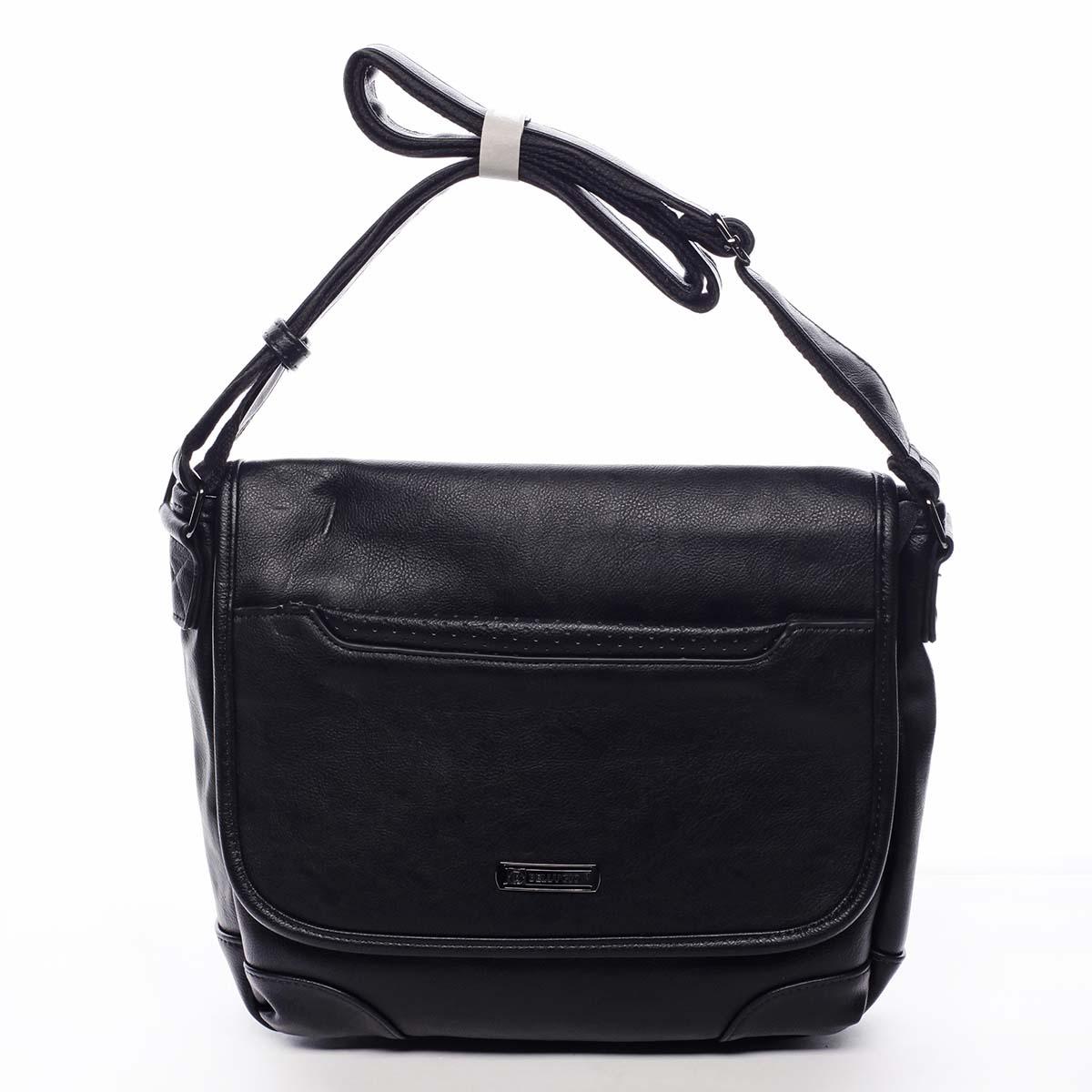 Pánska crossbody taška čierna - Bellugio Yanis