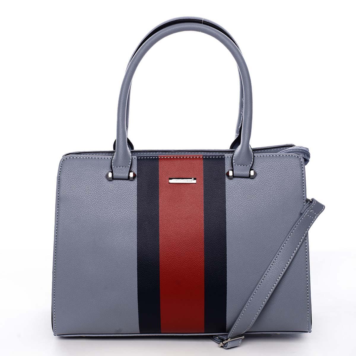 Exkluzívna dámska kabelka do ruky bledomodrá - David Jones Shabanax