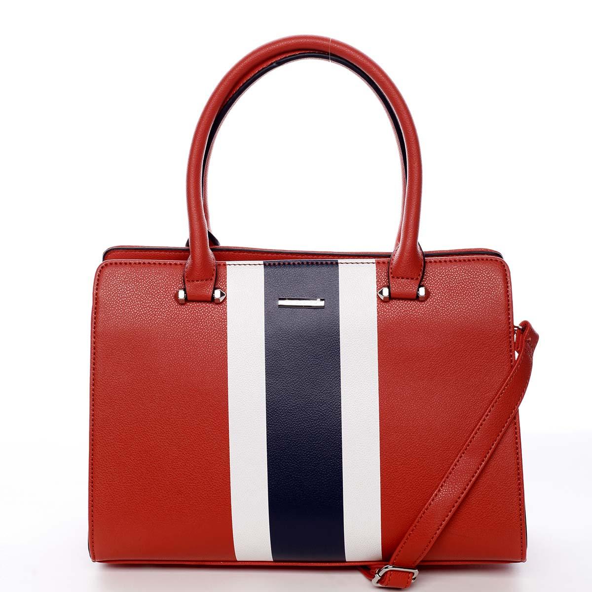 Exkluzívna dámska kabelka do ruky červená - David Jones Shabanax