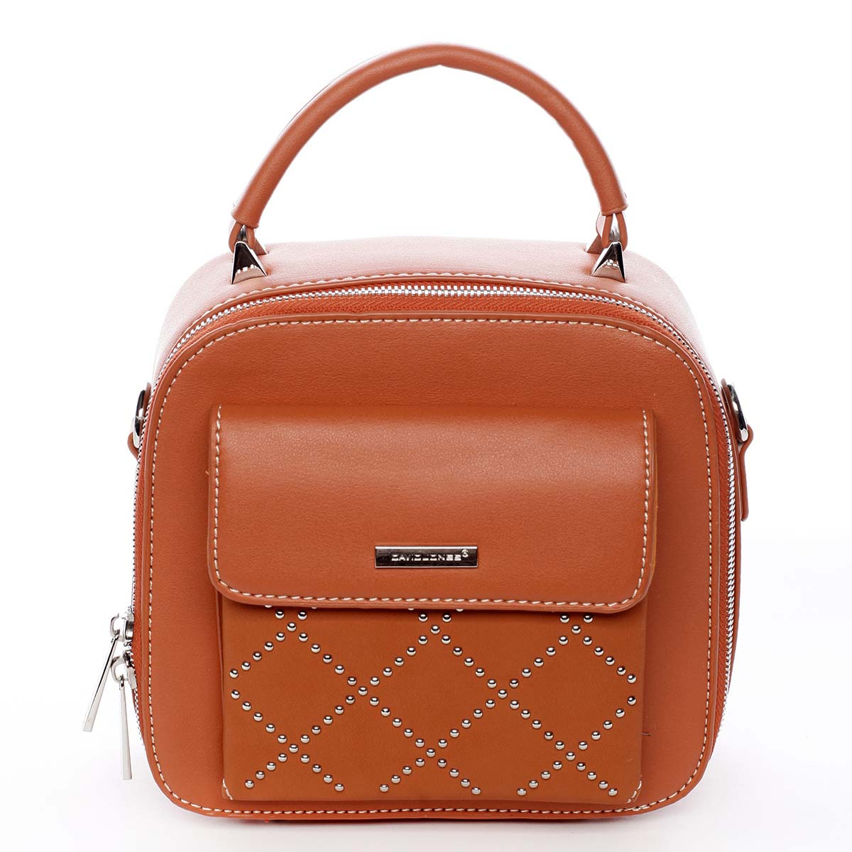 Luxusná malá dámska kabelka do ruky oranžová - David Jones Stela