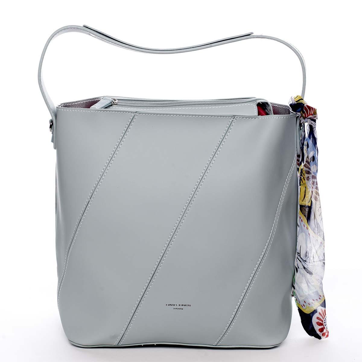 Elegantná dámska kabelka cez plece mentolová - David Jones Abena