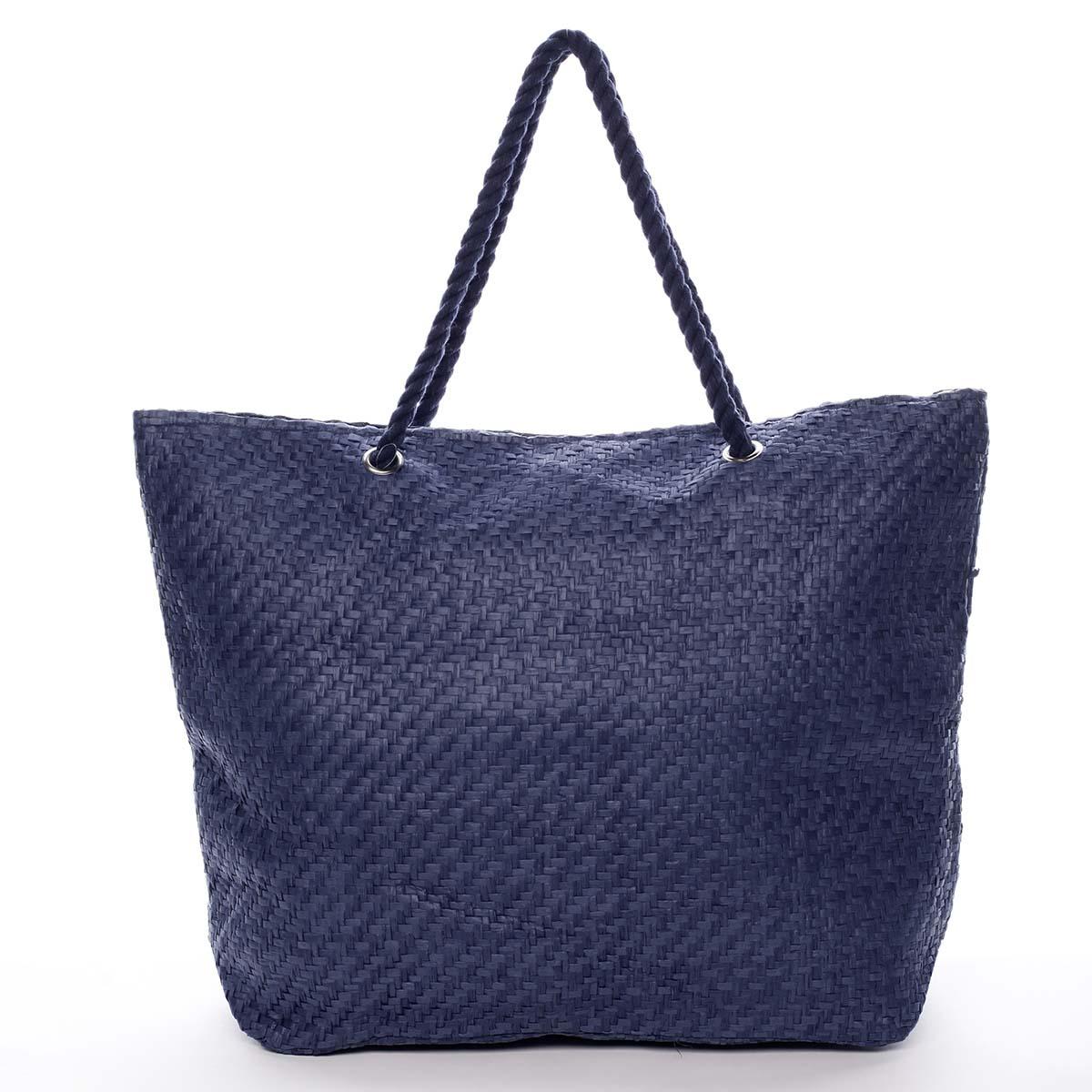 Luxusná plážová taška modrá - Delami Straw