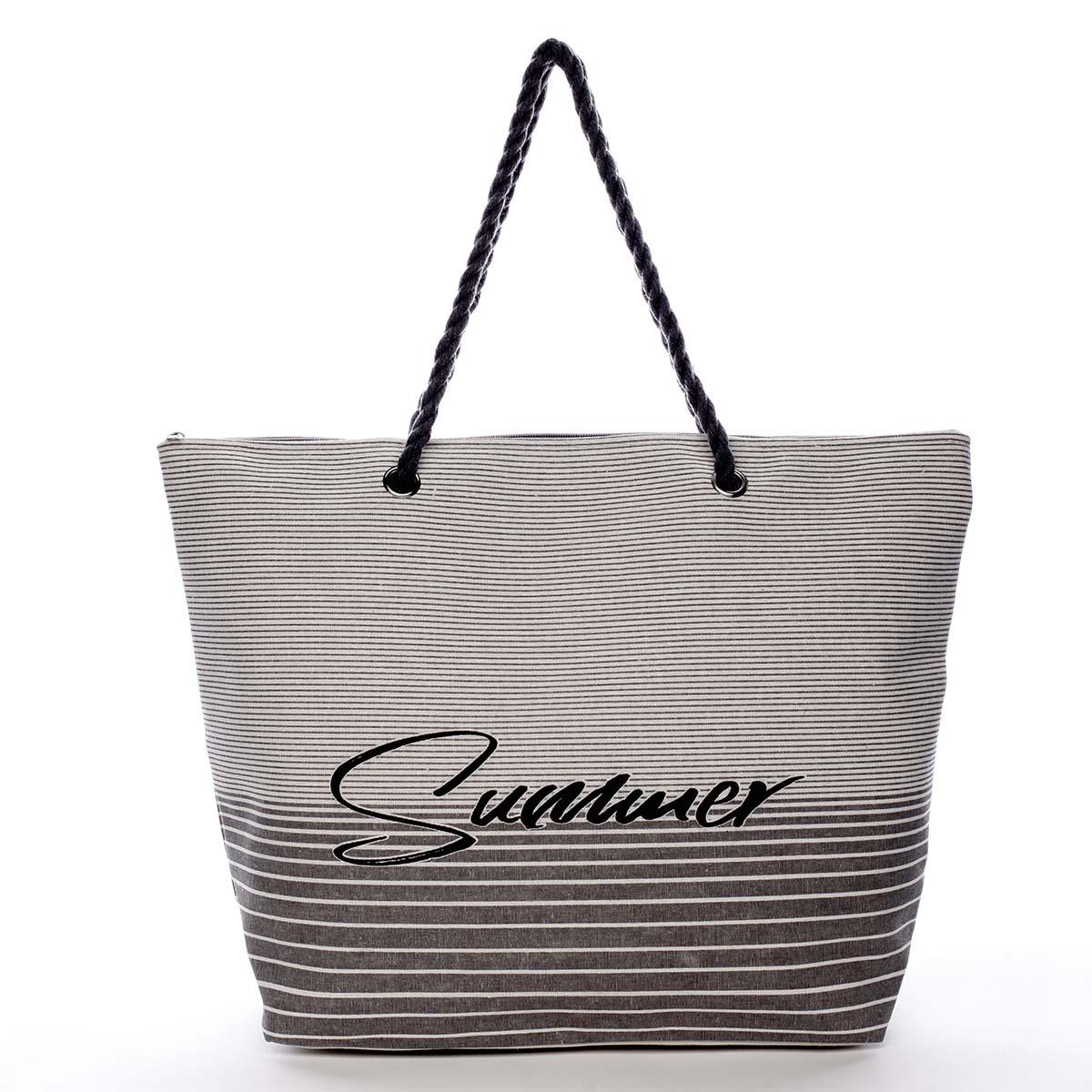 Módna plážová taška šedá - Delami Summer