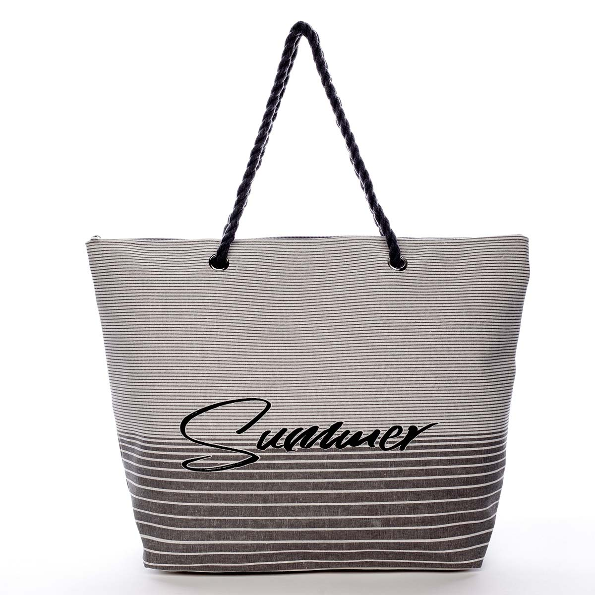 Módna plážová taška sivá - Delami Summer
