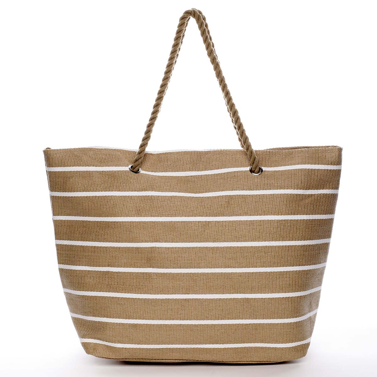 Elegantná plážová taška béžová - Delami Vide