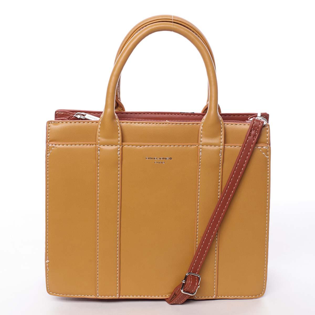 Malá dámska kabelka do ruky žltá - David Jones Akiba