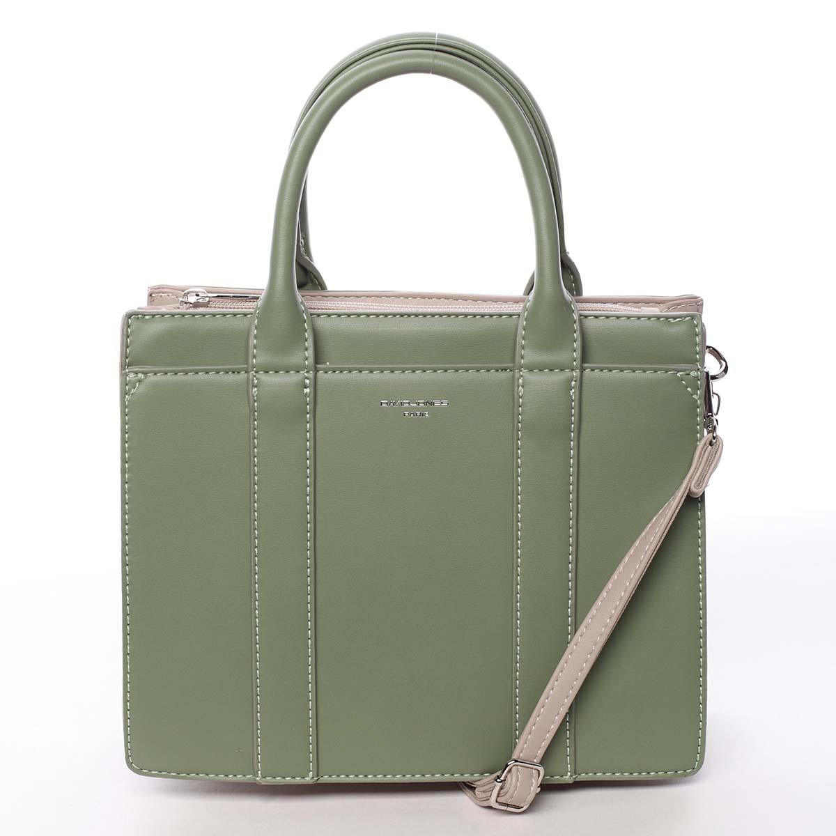 Malá dámska kabelka do ruky zelená - David Jones Akiba