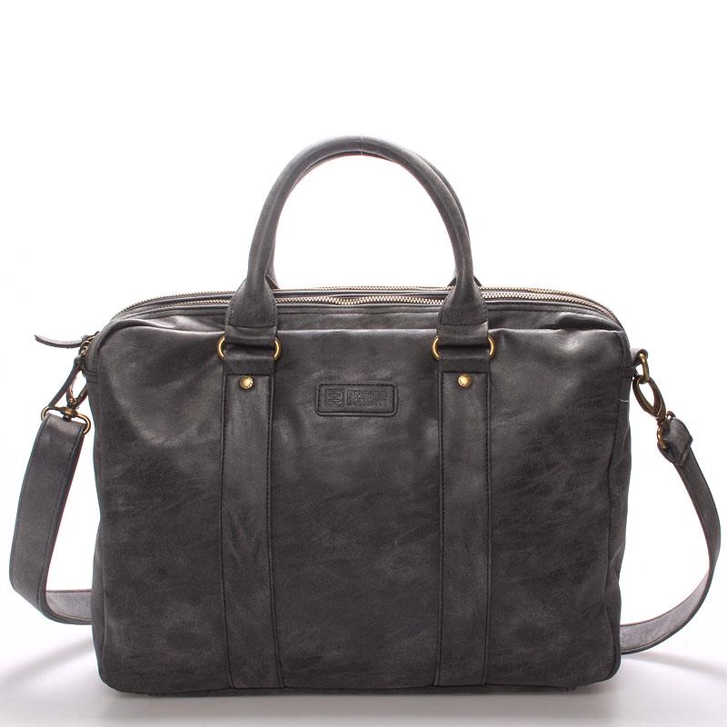 Pánska taška cez plece čierna - Enrico Benetti 4539