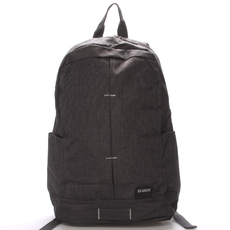 Školský jednoduchý sivý batoh - Enrico Benetti Achilleas