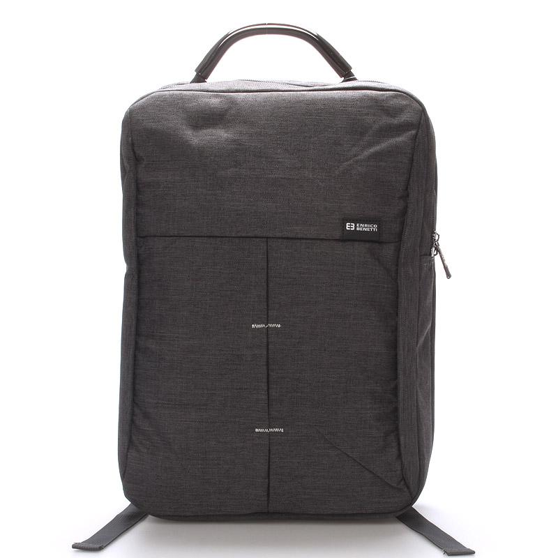 Jedinečný moderný sivý batoh - Enrico Benetti Achelous