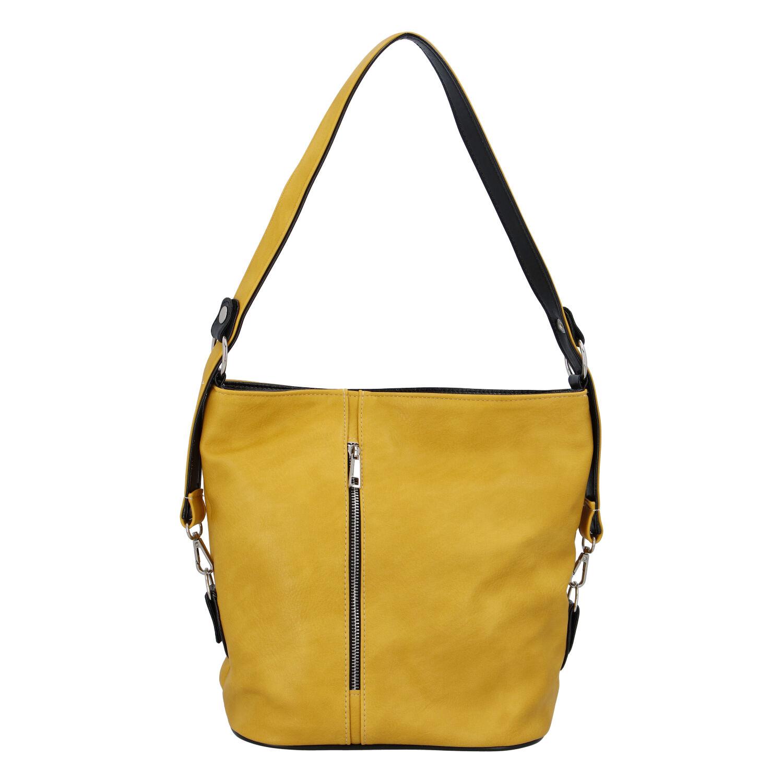 Dámska kabelka cez plece žltá - Ellis Haarlem