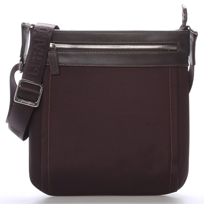Pánska taška cez plece na doklady hnedá - Gerard HENON Daniel