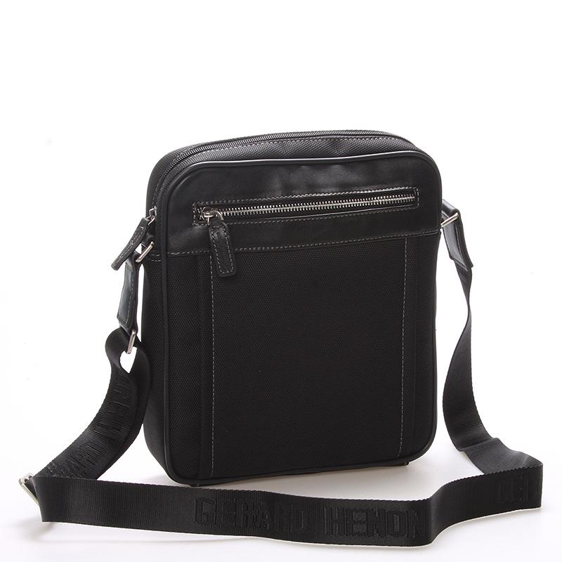 Pánska taška cez plece na doklady čierna - Gerard HENON Jacques