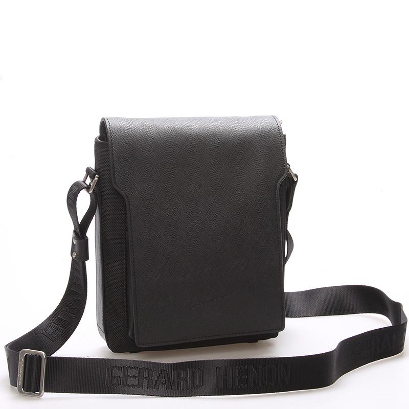 Elegantne športová taška cez rameno na doklady čierna - Gerard HENON Rene