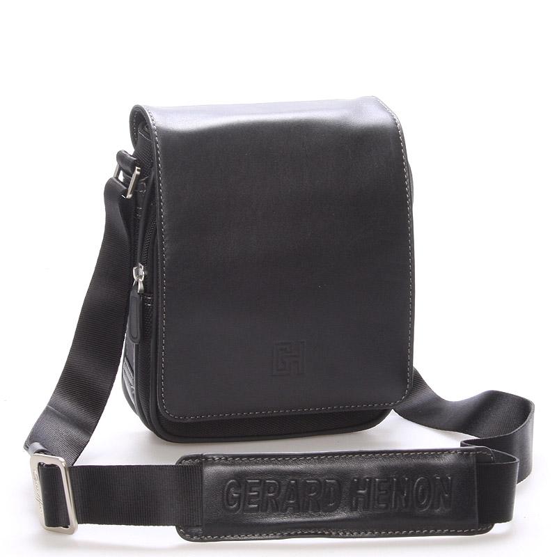 Pánska taška cez rameno na doklady čierna - Gerard HENON Lennard