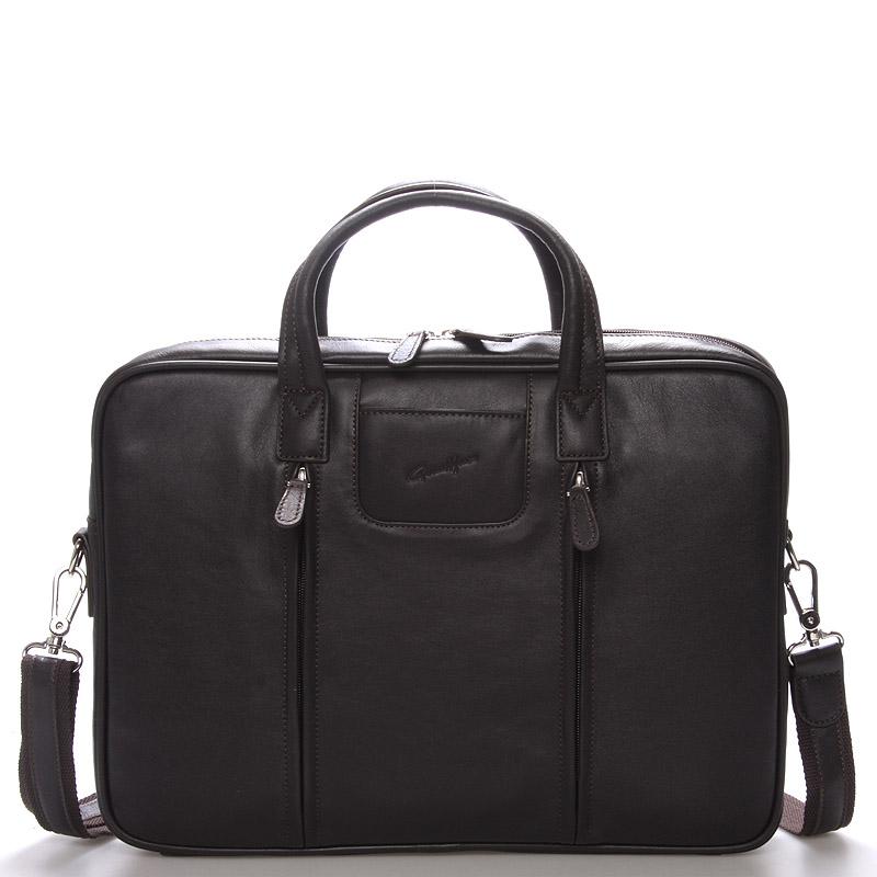 Luxusná kožená taška cez rameno hnedá - Gerard HENON Derell