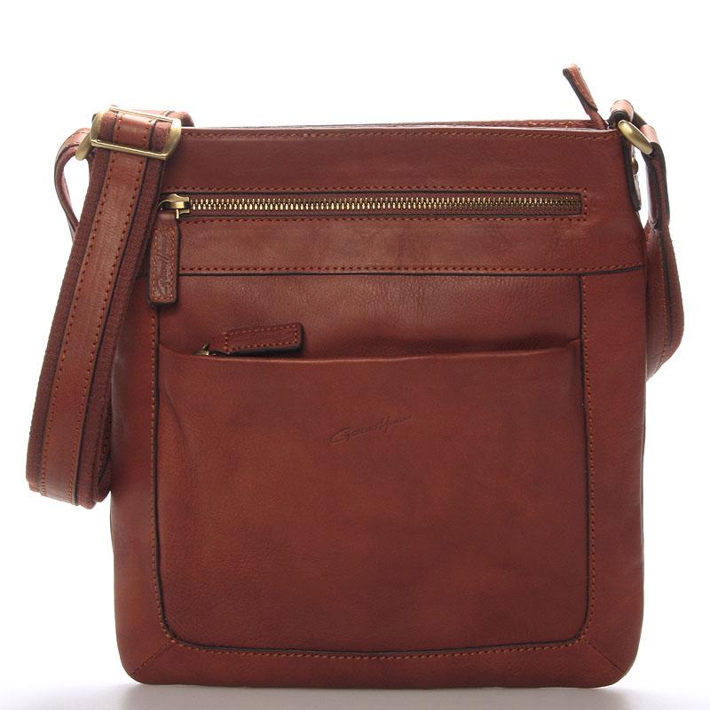 Pánska kožená taška cez rameno hnedá - Gerard HENON Curt