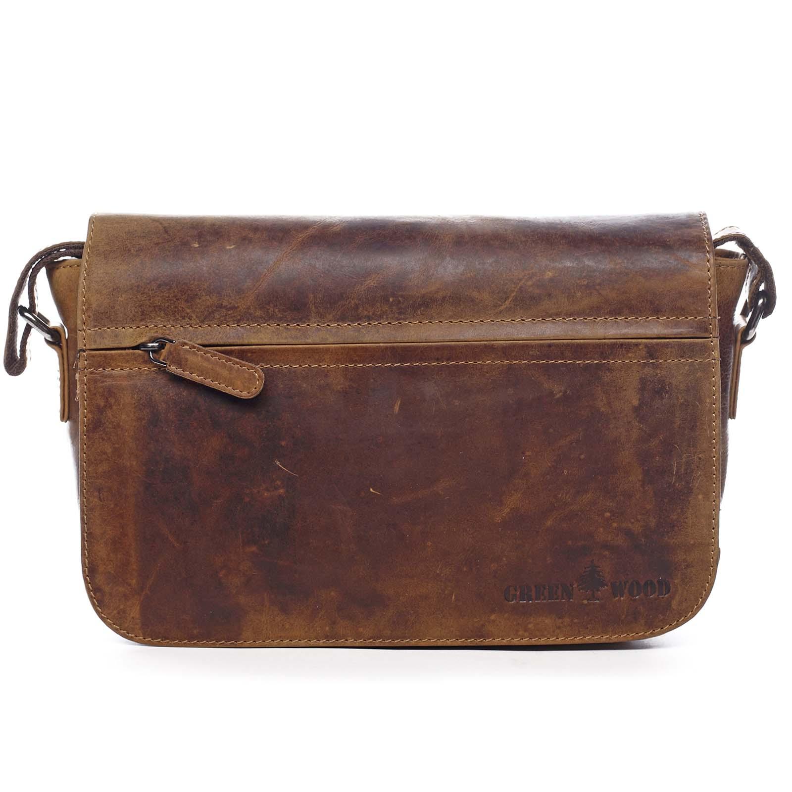 Kožená taška cez plece svetlo hnedá - Greenwood Aboutus