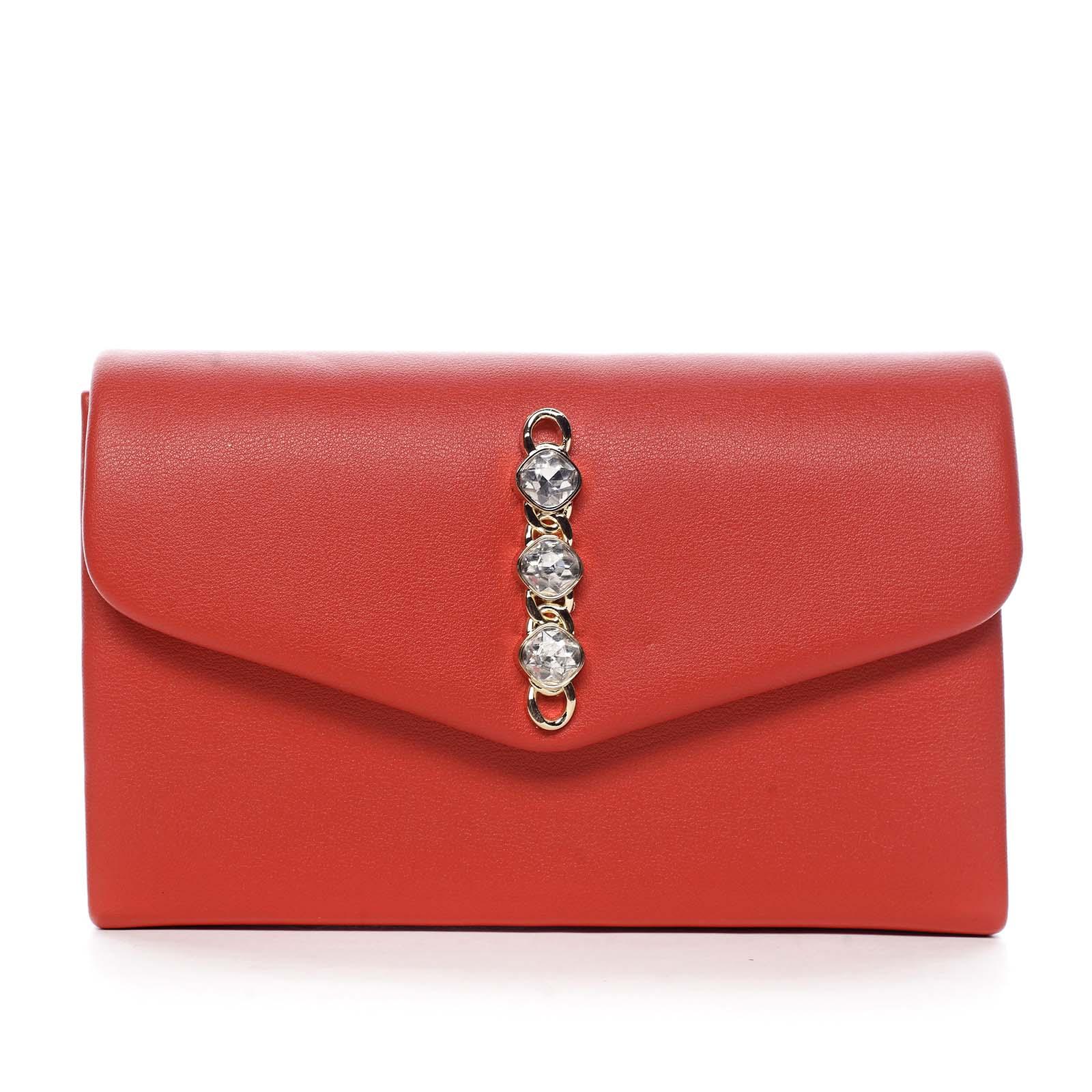 Dámska listová kabelka červená - Michelle Moon Idaymane
