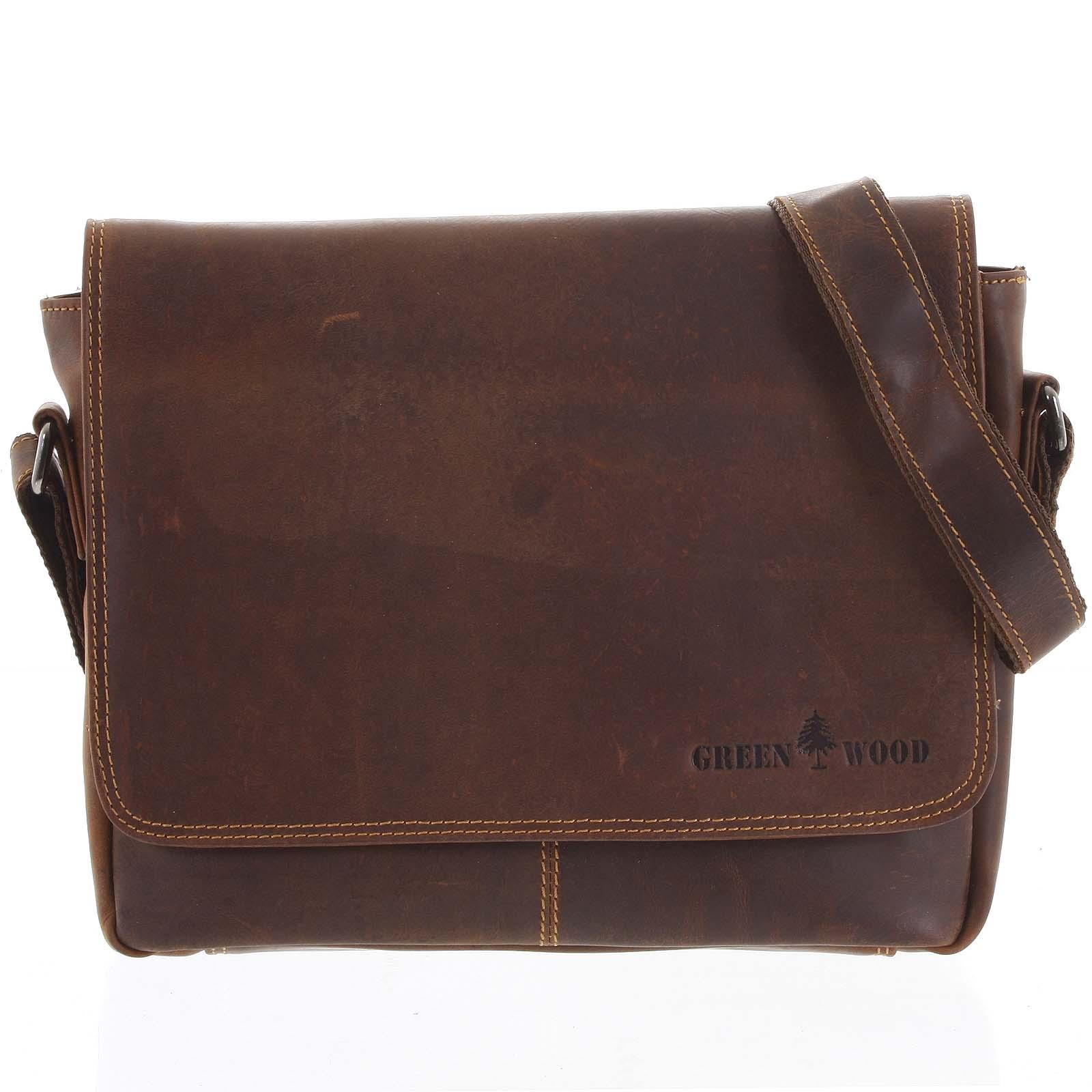 Pánska kožená taška hnedá - Greenwood Jordy