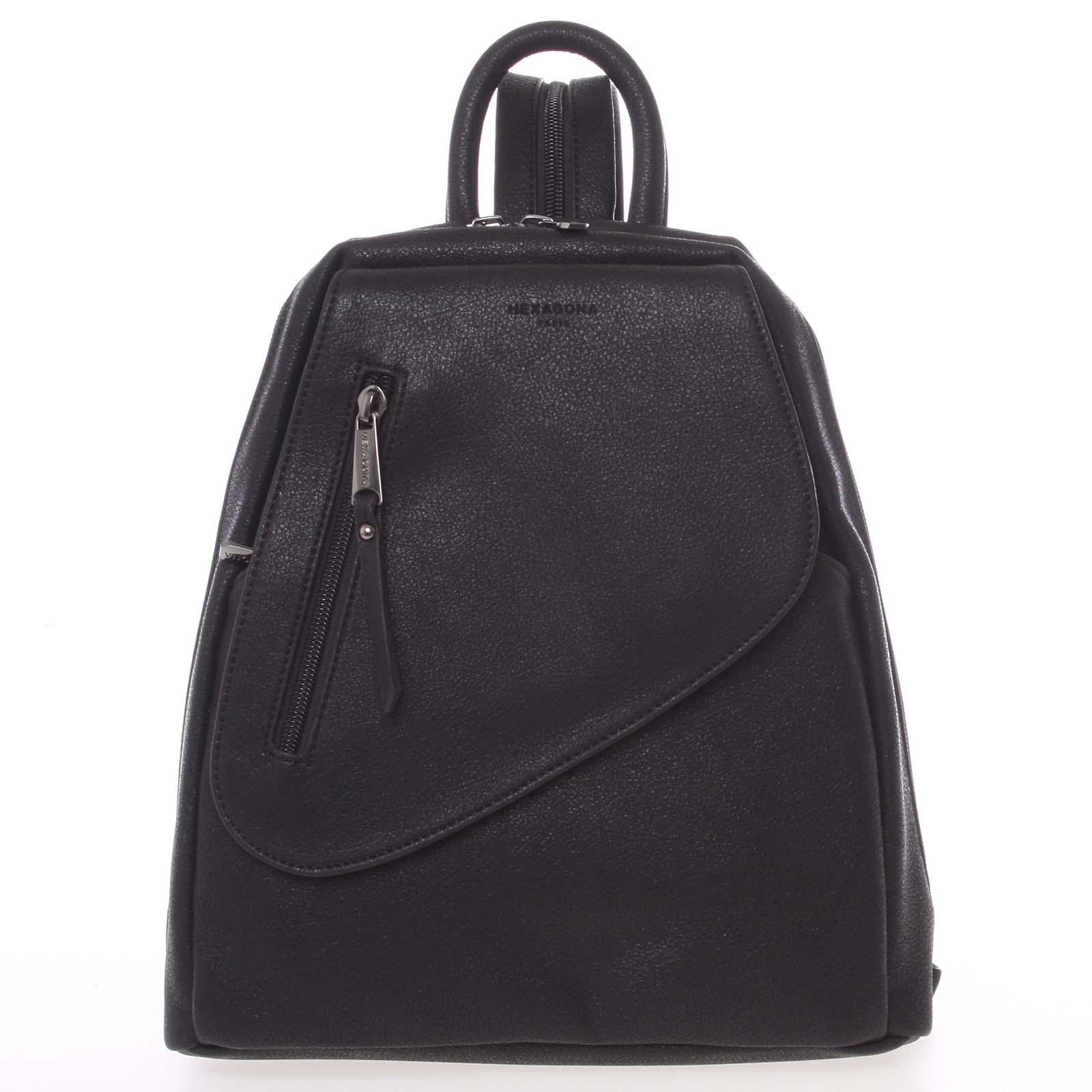 Módny dámsky čierny ruksak - Hexagona Pasha