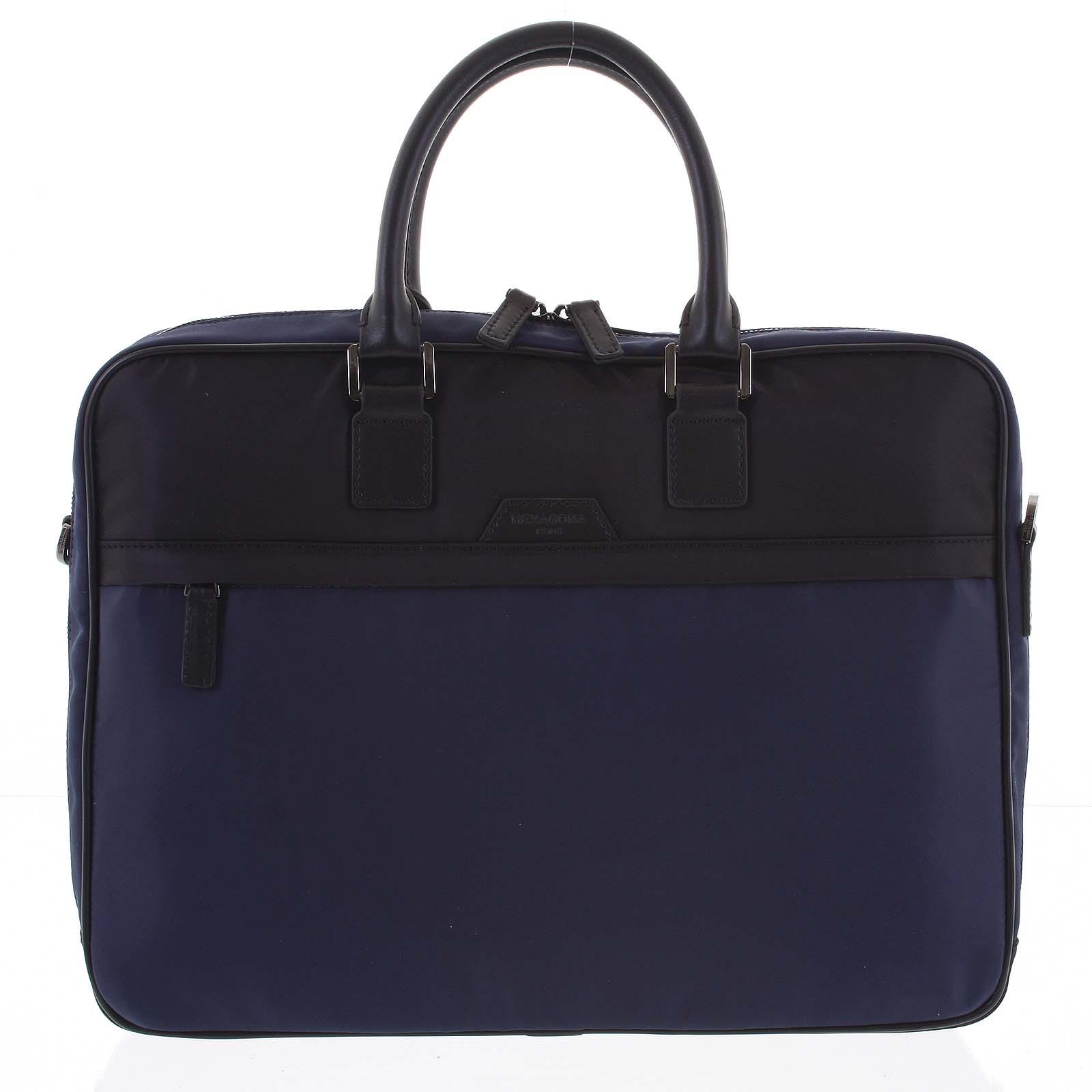 Pánska taška na notebook modro čierna - Hexagona Aslan