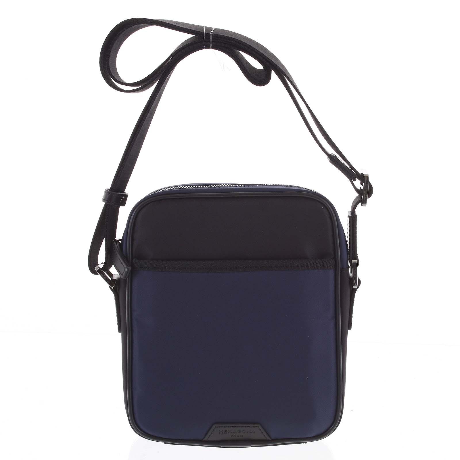 Pánska crossbody taška modro čierna - Hexagona Aquino