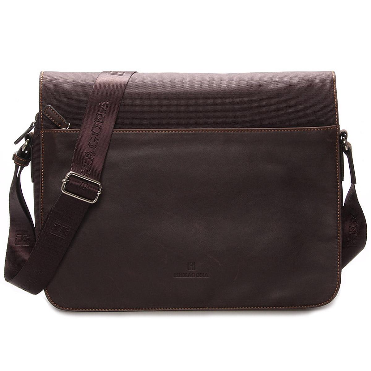 Pánska kožená taška hnedá - Hexagona Tavin
